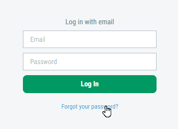 Image of Forgot your Password link